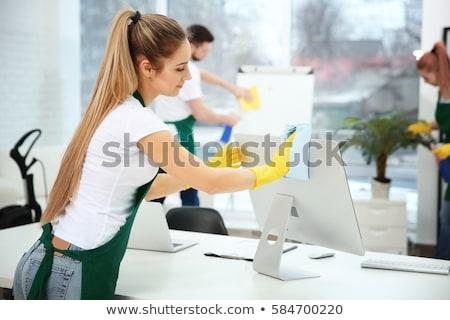 Maschio femminile pulizia ufficio giovani donna Foto d'archivio © AndreyPopov