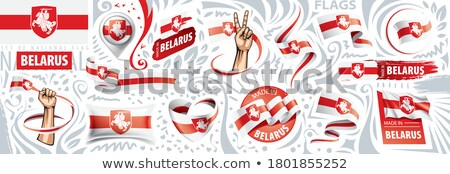 Vector set of the national flag of Belarus in various creative designs Stock photo © butenkow