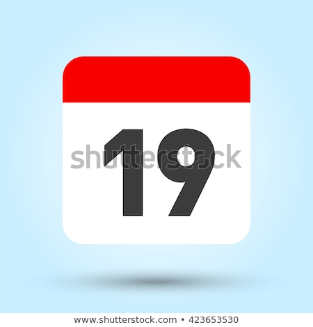 Simple black calendar icon with 19 september date isolated on white Stock photo © evgeny89