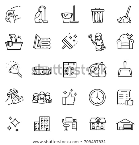 household vacuum cleaner icon vector outline illustration Stock photo © pikepicture