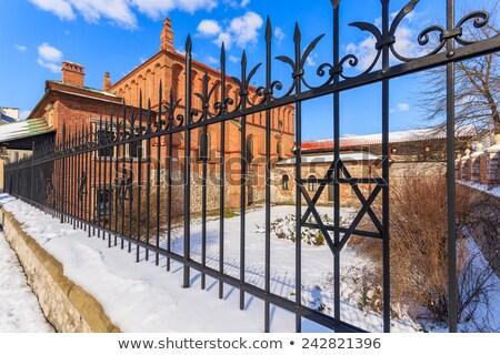 Edad sinagoga cracovia Polonia ortodoxo distrito Foto stock © borisb17