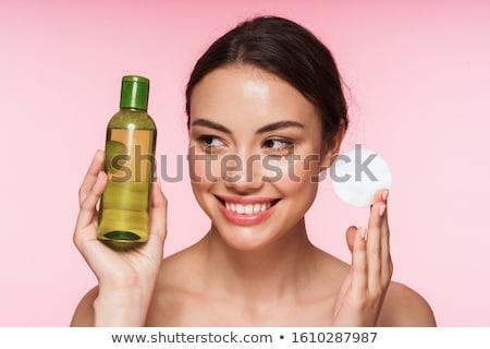 Schoonheid portret aantrekkelijk jonge topless brunette Stockfoto © deandrobot