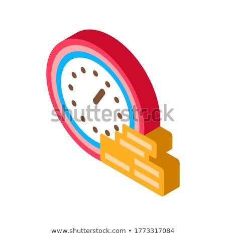 óra érme halom izometrikus ikon vektor Stock fotó © pikepicture