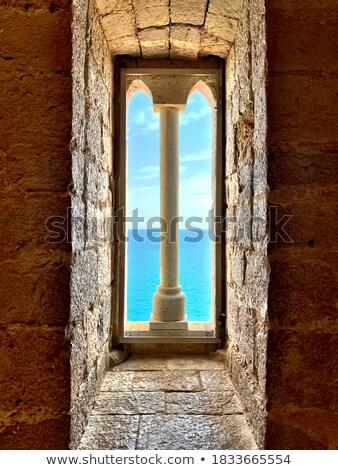 старые Средиземное море архитектура типичный небольшой строительство Сток-фото © poco_bw