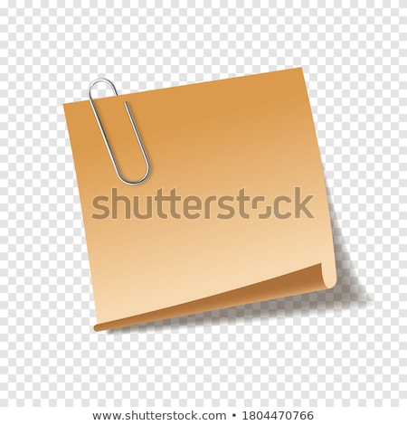 Note paper with clip.Blank Note. Stock photo © stokato