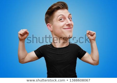 smiling man caricature Stock photo © izakowski