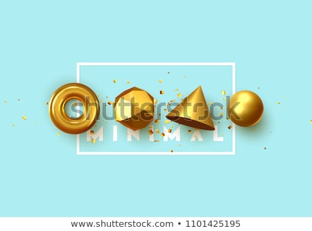 Gold 3d sphere. stock photo © christina_yakovl