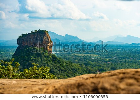 Stockfoto: View And Ruins On Top Of Sigiriya Rock