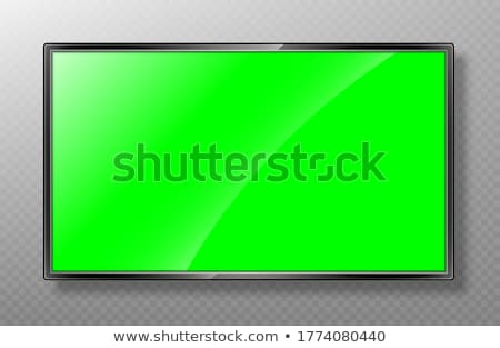 Stockfoto: 3D · lcd · muur · tv · Rood · technologie