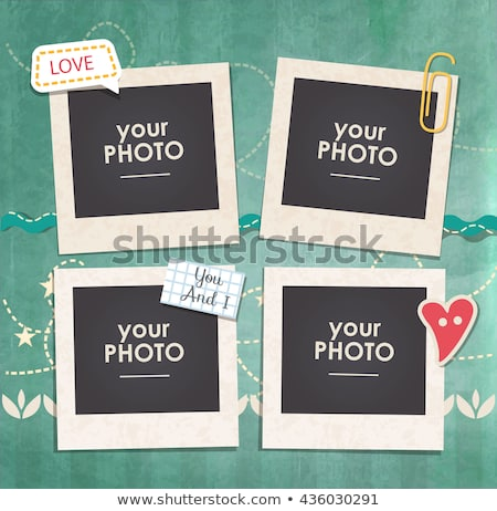Frames for photo collage stock photo © gant