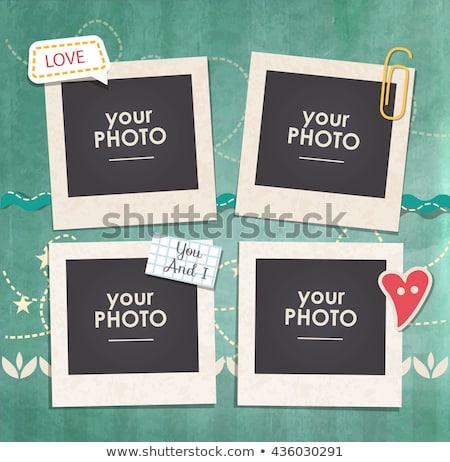 フレーム 写真 コラージュ 空っぽ フレーム 黒 ストックフォト © gant