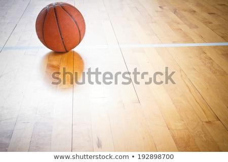 Basketbal vloer textuur gezondheid Stockfoto © IvicaNS