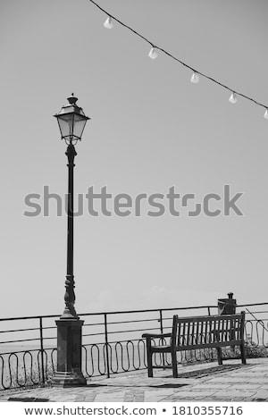 Passeio público beira-mar pequeno aldeia mediterrânico mar Foto stock © Antonio-S