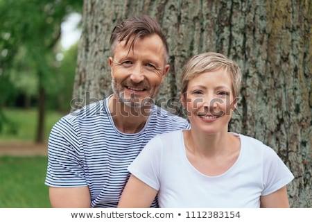 portrait · couple · amour · homme · été · bleu - photo stock © photography33