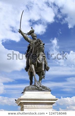 Statue of King Victor Emmanuel II in Venice Stock photo © vladacanon