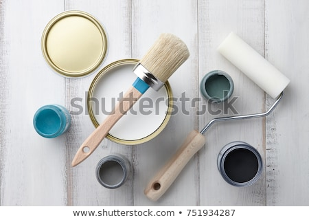 Painter with roller and paint can Stock photo © photography33