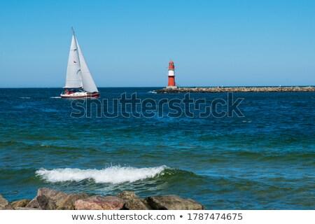 Luxuoso farol barco turista mar viajar Foto stock © smithore