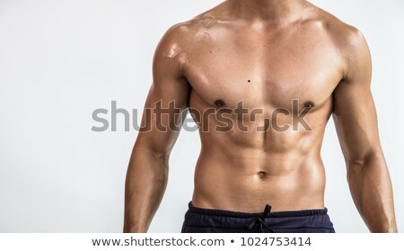Male chest and muscles Stock photo © adamr