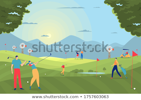 man with car on golf field stock photo © paha_l
