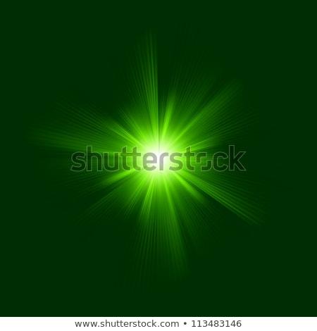 vert · lumière · étoiles · explosion - photo stock © beholdereye