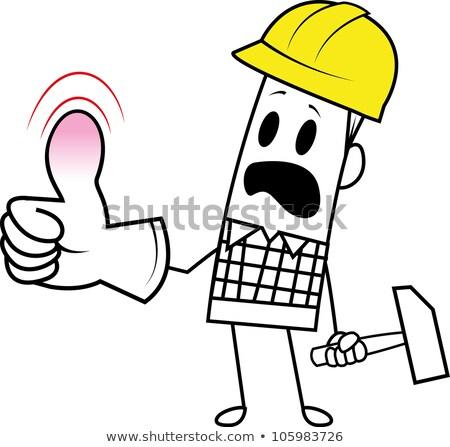 Desajeitado construtor sorrir construção indústria ferramentas Foto stock © photography33
