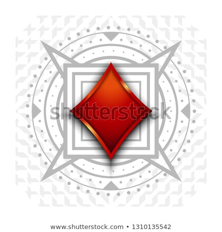 Casino banner I love poker with diamond poker elements, vector illustration Stock photo © carodi