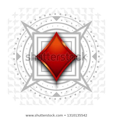 Stock photo: Casino Banner I Love Poker With Diamond Poker Elements Vector Illustration