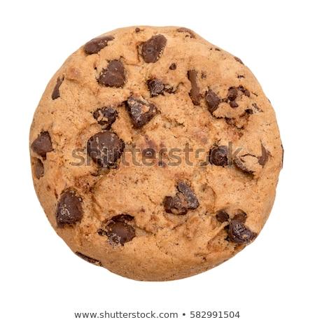 Sweet коричневый Cookie изолированный белый продовольствие Сток-фото © ozaiachin