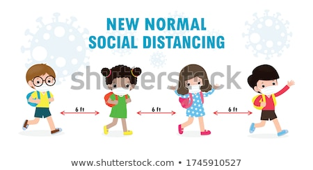 School girl is going to school. Back to school. Vector illustrat stock photo © leonido