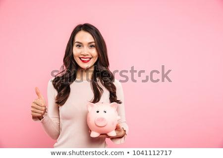 Piggy Bank портрет Cute молодые Сток-фото © williv