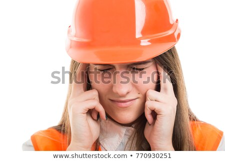 A hurt female construction worker. Stock photo © photography33