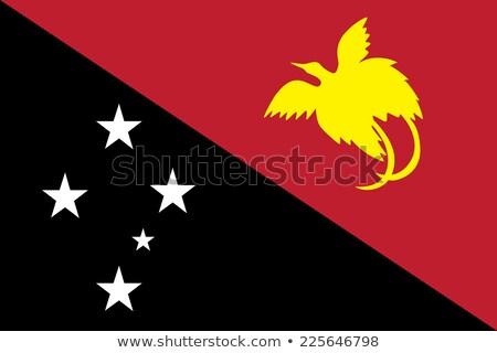 флаг · Папуа-Новая · Гвинея · текстуры · карта · дизайна · Мир - Сток-фото © perysty