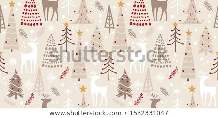капризный · Cartoon · рождественская · елка · звездой · фары · Рождества - Сток-фото © komodoempire