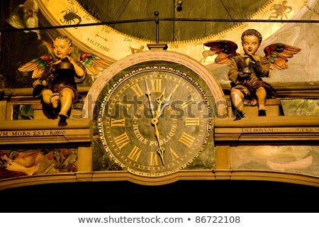 detail of horologe in Cathedral Notre Dame, Strasbourg, Alsace,  Stock photo © phbcz