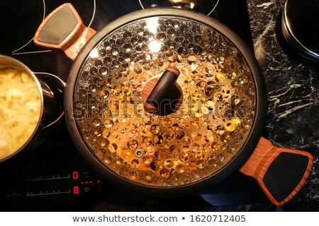 Saucepan with glass lid Stock photo © photography33