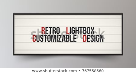 classic neon sign cinema stock photo © cr8tivguy