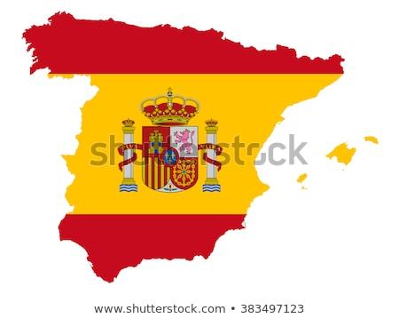 Spanje kaart vlag spaans oud papier papier Stockfoto © marinini