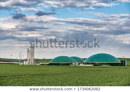Bioenergia zöld biogáz gyártás létesítmény energia Stock fotó © manfredxy