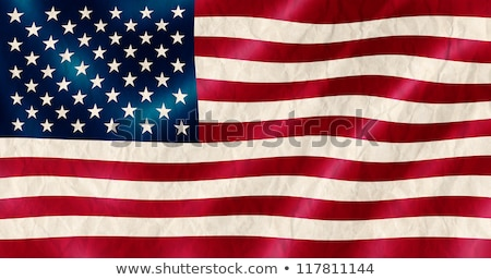 USA flag old crinkled effect illustration. Stock photo © latent
