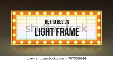 Retro illuminated Movie marquee Blank sign Stock photo © m_pavlov