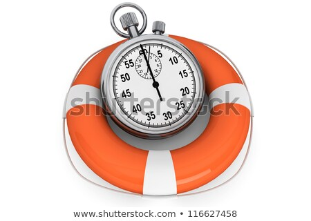 Kronometre beyaz kurtarmak zaman iş saat Stok fotoğraf © tashatuvango