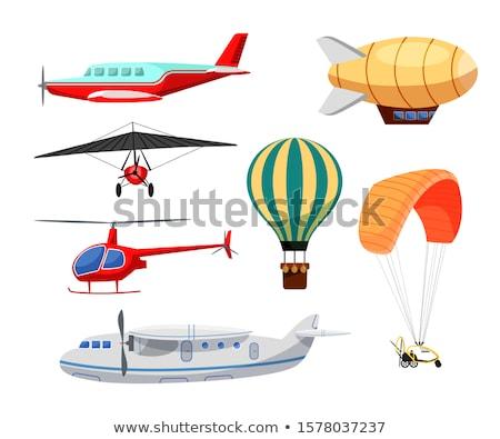 вертолета самолета Flying Blue Sky путешествия лет Сток-фото © claudiodivizia