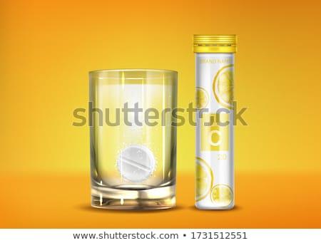 Efervescencia vidrio imagen dos gafas Foto stock © magann