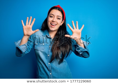 ten fingers stock photo © dolgachov