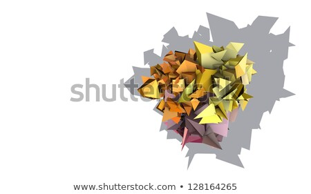 3d abstract yellow pink orange spiked electric shape Stock photo © Melvin07