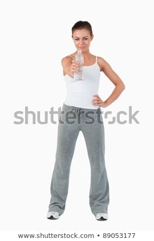 Jovem feminino mão quadril oferta sorvo Foto stock © wavebreak_media