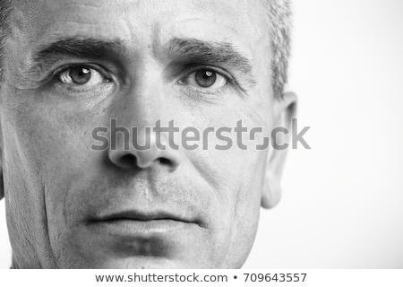Verkoper wijzend omhoog witte man Stockfoto © wavebreak_media