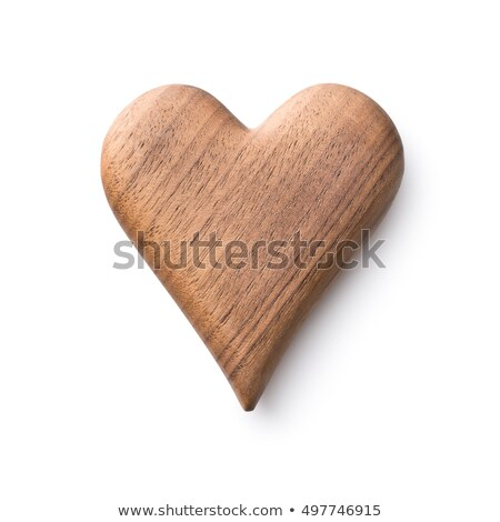 Ahşap kalpler iki asılı mavi ahşap Stok fotoğraf © rogerashford
