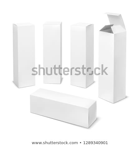 紙 長方形の ボックス 食品 白 ストックフォト © butenkow
