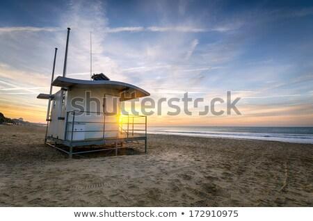 Strand kleurrijk groene Stockfoto © flotsom